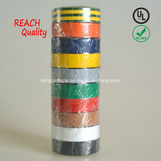 Customized High Quality PVC Electrical Insulation Tape (0.13mm/0.15mm/0.18mm) pictures & photos