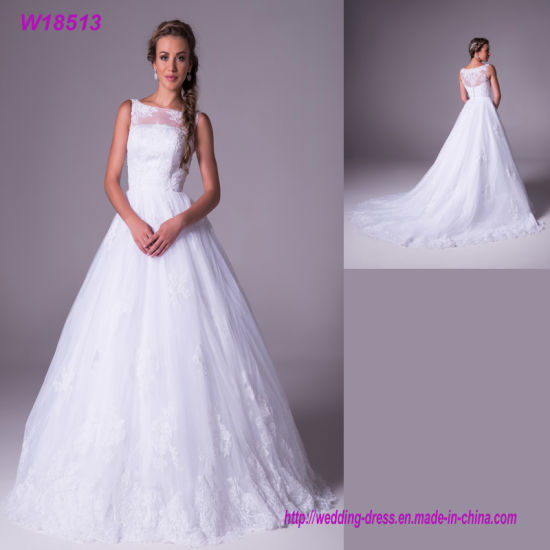 W18513 Spandex Polyester Material And Organza Fabric Type Wedding Dress