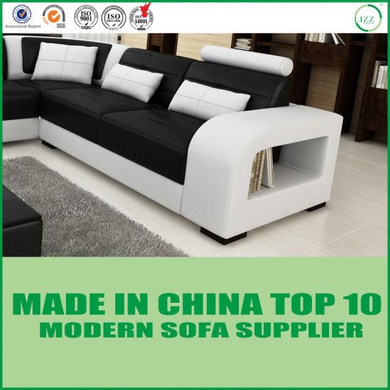 Modern Italian Corner Sofa Living Room Furniture Set