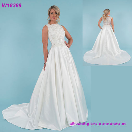China W18388 Latest Wedding Gown Designs Lace Long Sleeve Bridal ...