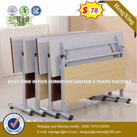 Modern Design MDF Wooden Furniture School Training Study Folding Tables