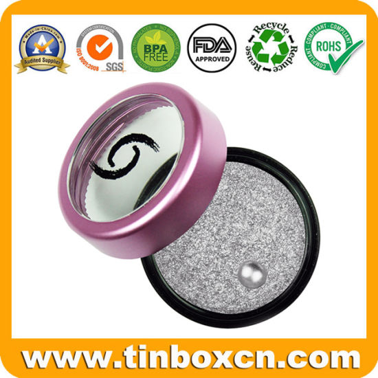 Cosmetic Metal Tin Can Eye Shadow Tin Box with Window pictures & photos