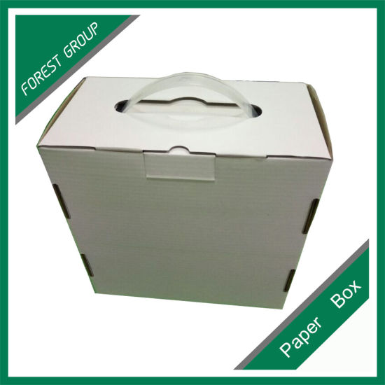 Logo Printing Corrugated Packaging Box with Handle pictures & photos