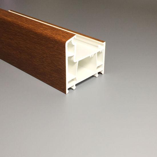 Wood Color PVC Profiles Golden Oak Laminated Foil UPVC Window Profiles Plastic Window and Door