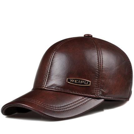 0779b2b64bb Custom Promotional Fashion PU Leather Military Cap Sports Baseball Cap  Visor Man Hats
