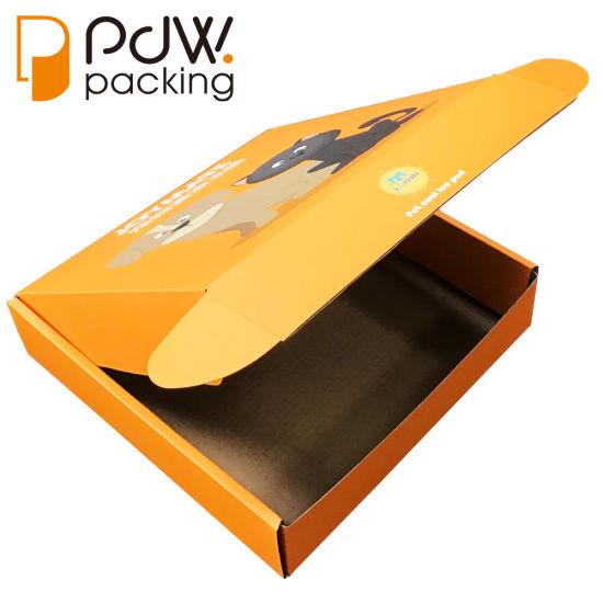 Free Sample Custom Logo Color Printed Clothing Folded Corrugated Mail Shipping Box