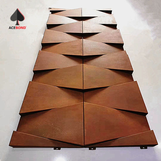 Special Design Oxidized Surface Aluminum Solid Panel for Piazza Building