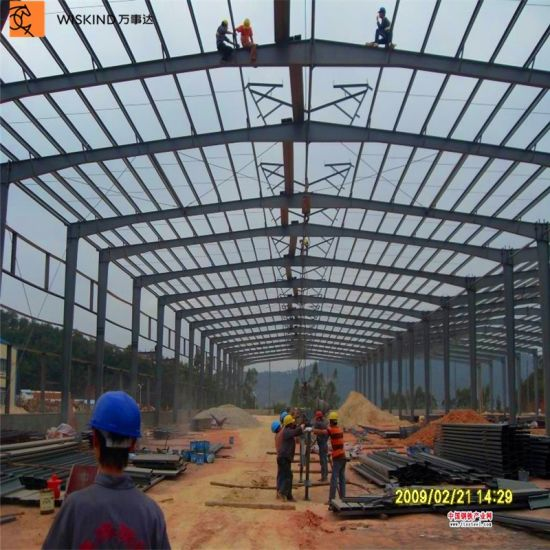 Prefabricated Steel Warehouse Workshop Structure Factory Shed in Europe pictures & photos
