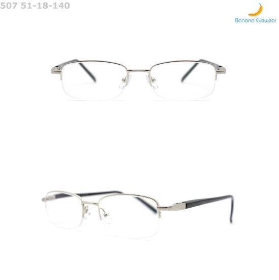 Metal Frame Half Eyewear Custom Logo Reading Glasses Eye Optical