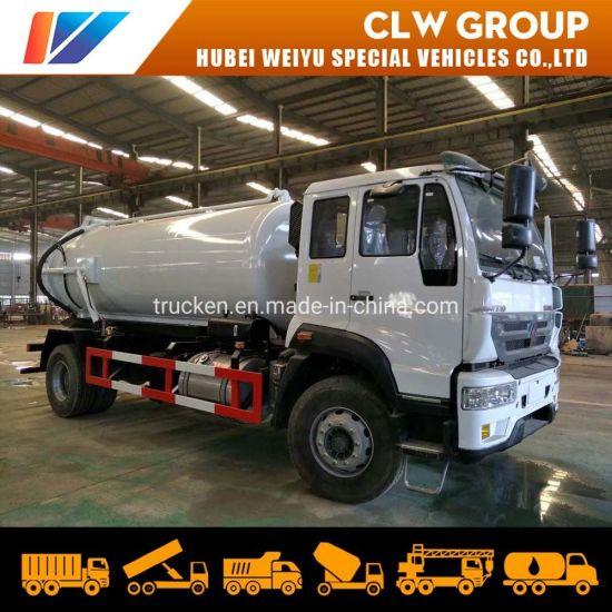 Sinotruk 12000 Liters Vacuum Suction Sewer Cleaning Sewage Tanker Truck