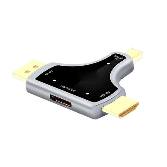Converter Dp+Mini Dp+HDMI to HDMI (4K*2K) HD Adapter for Laptop, MacBook, HDTV