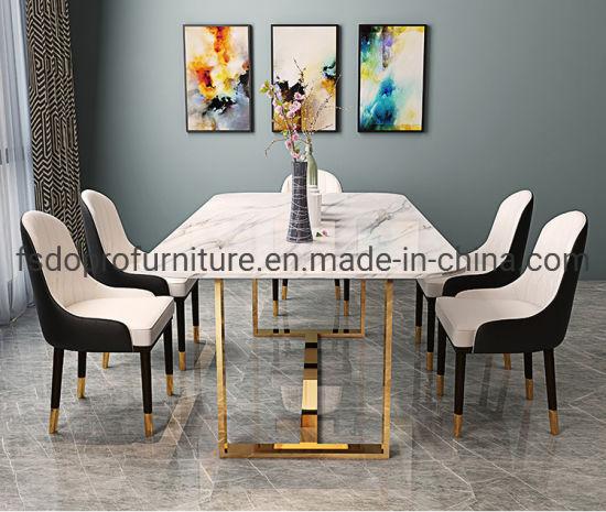 China Luxury Simple Style Gold Metal, Dining Room Set Metal Legs