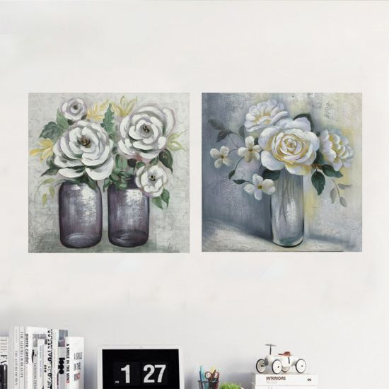 China Modern Flower With Pot Handmade Oil Painting Pictures Pop Art Painting Wall Art Decoration China Oil Painting And Canvas Painting Price