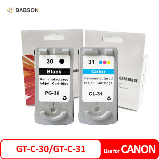 Compatible Canon Gt-C-30 Gt-C-31 Pg30 Cl31 Ink Cartridge for Canon Pixma IP1800 IP2600 MP 140 MP 210 MP 470 Mx 300 Mx 310 Inkjet Printer pictures & photos