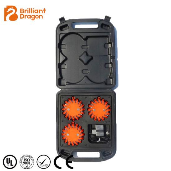Roadside Beacon LED Road Safety Flare 3PCS Warning Strobe Light 3 Flare LED Road Flares Emergency Disc Safety Light Flashing