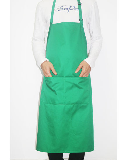 Wholesale Custom High Quality Long Cooking Restaurant Chef Bib Apron