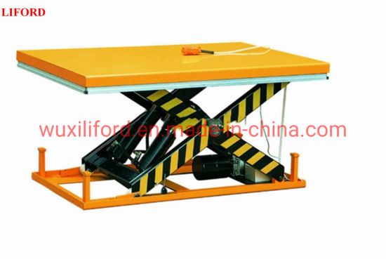 Stationary Electric Hydraulic Pump Lifting Table 1000kg-4000kg Capacity