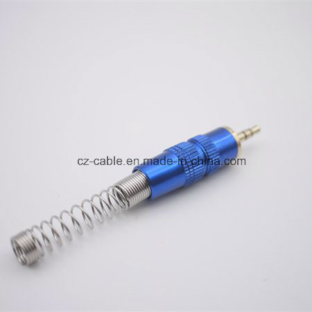 3.5mm Stereo Audio Plug with Spring in Colour for RCA Cable pictures & photos