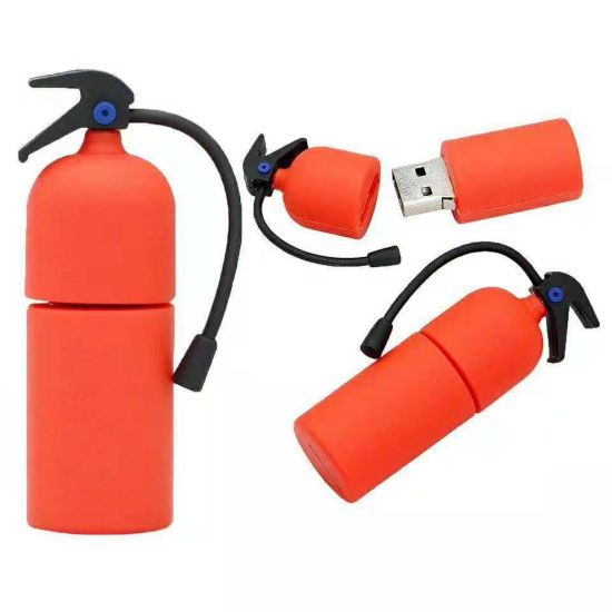 Promotion Gifts Custom Logo USB Pen Drive 3D Fire Extinguisher USB Flash Drive Fire Hydrant 16GB