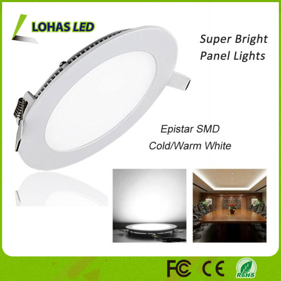 SMD Round LED Panel Light with 3W 9W 12W 25W pictures & photos
