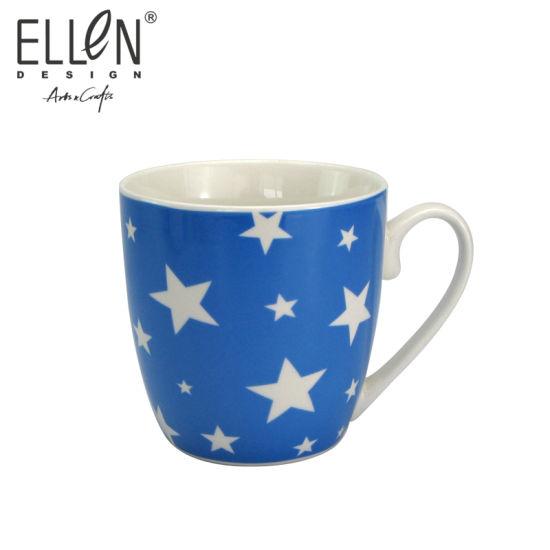 Promotional Gift Star Design Ceramic Coffee Mug