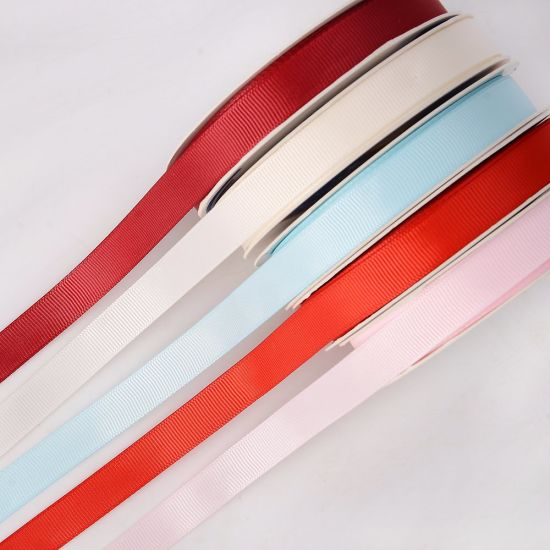 "5/8"" Solid Color Polyester Grosgrain Ribbon pictures & photos"
