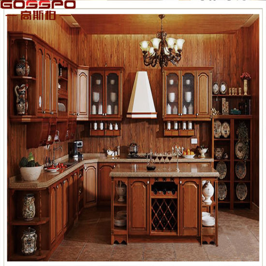 USA Market Solid Wood Furniture Kitchen Cabinet with Island (GSP10-005) : kitchen cabinets made in usa - hauntedcathouse.org