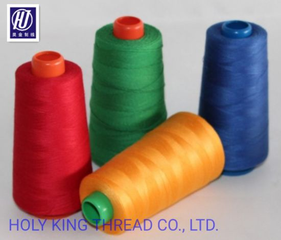 High Strength Polyester Waterproof Sewing Thread in China pictures & photos