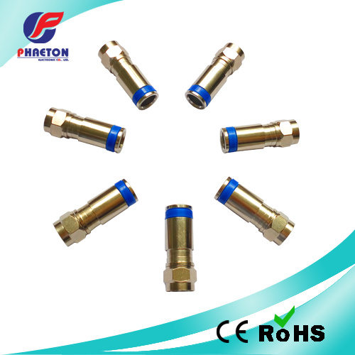 RG6 Compression RF Connectors for Coaxial Cable pictures & photos