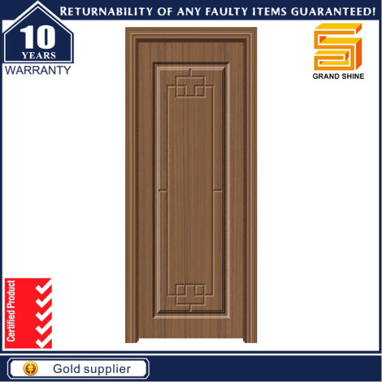 China Interior Wood Moulded Panel Hollow Core PVC Veneer MDF ...
