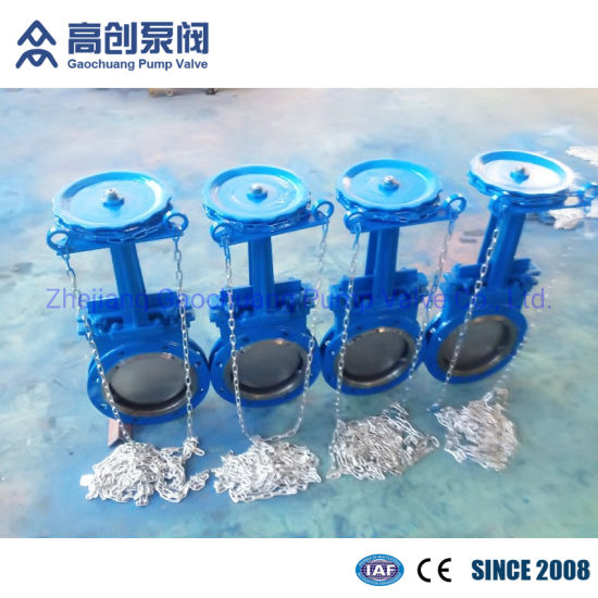 Chain Wheel Flange Industrial Knife Gate Valve