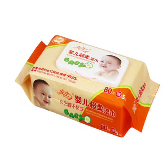 Fragance Free Wet Wipes for Baby Cleaning pictures & photos