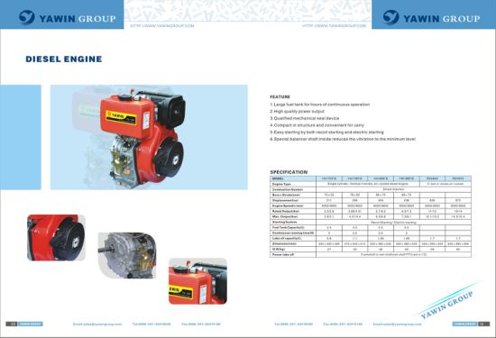 Ce Approved 12HP Single Cylinder, 4-Stroke, Air Cooled Diesel Engine pictures & photos