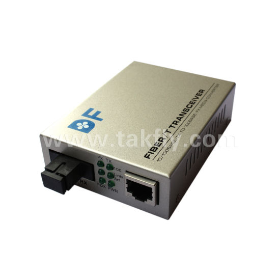 China Factory Dual Fiber Single Mode 1310 /1550nm Gigabit Optical Fiber Media Converter pictures & photos