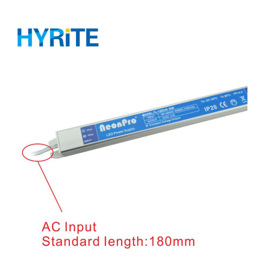 10-48W Super Slim Thin LED Driver AC DC 220V 12/24V