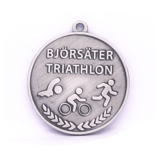 Antique Silver 3D Stamping Triathlon Medal Gift Factory for Sale Presentation Box pictures & photos