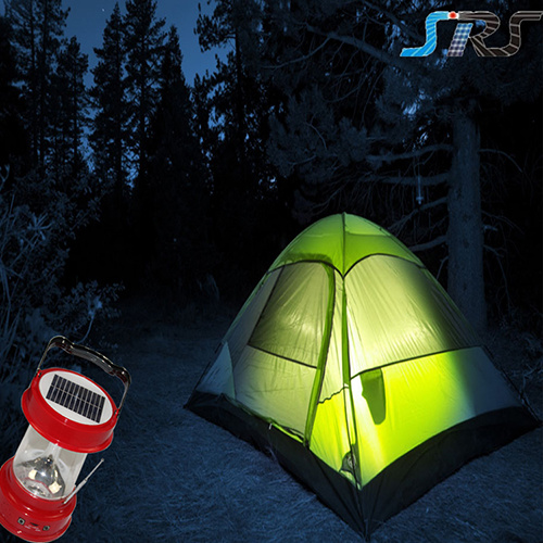 SRS Solar Power Camping Light with Ultra Bright LED Rechargeable Battery Lantern with Mobile Phone Charger pictures & photos
