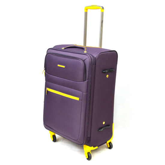 Chubont High Qualilty Hot Sell Fashion Color Matched 100% Polyester Trolley Luggage Set pictures & photos