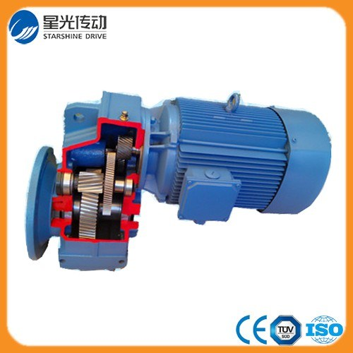 F Series Parallel Shaft Helical Gear Motor with Flange Mounted
