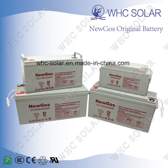12V 200ah Deep Cycle AGM Battery for UPS Solar system pictures & photos