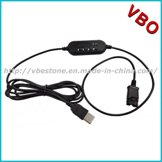 China Usb Qd Cable For Plantronics Qd Corded Headsets Connect To Computer Pc China Voip Headset And Telephone Headset Price