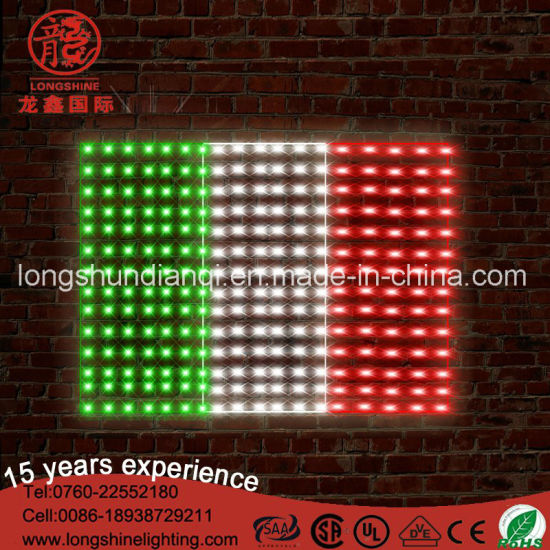 Led Italian Flag Lights Poles For With Green White Red Pictures Photos