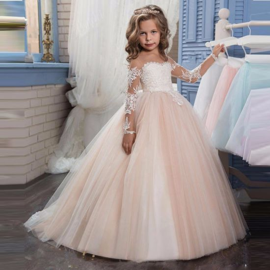 First Communion Prom Party Gowns Flower Girls Dresses Wholesale