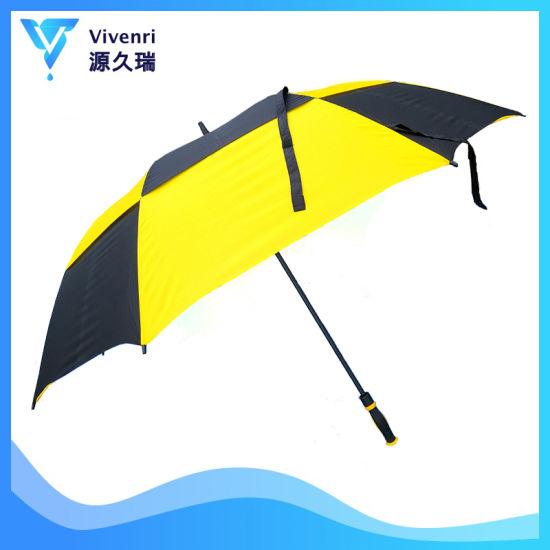 Straight Air Condition Custom Printed Golf Umbrella