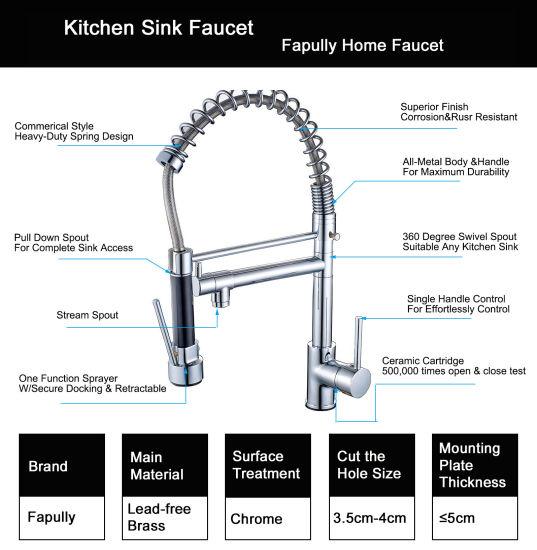 China Flg High Quality Chrome Handle Hole Kitchen Sink Faucet China Handle Faucet White Kitchen Faucets