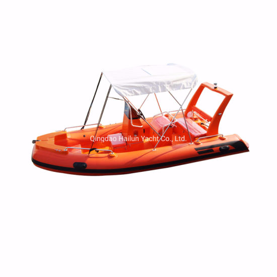 17feet Rib Boat, Inflatable Fiberglass Boat, Sport Fishing Boat