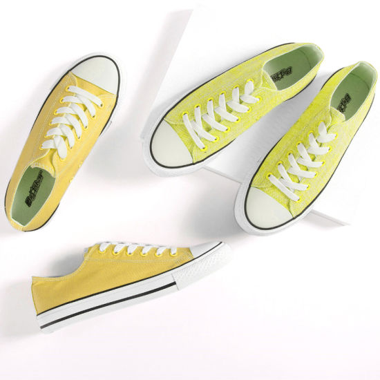 Wholesale Lace up Classic Canvas Unisex Casual Shoes Sneaker