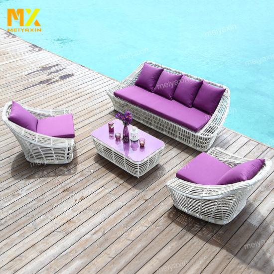 Myx Outdoor Garden Natural Rattan Patio Furniture Sofa Set (accept customized)