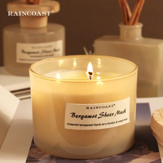 Raincoast Wholesale 350g Scented Candle Aromatherapy Retro Grind Arenaceous Light Color 3 Wick Candles