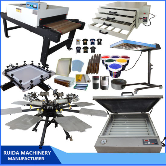 Multicolor Rotary Table 8 Color 8 Station Screen Printing Machine